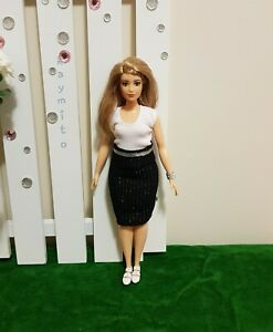 Curvy-Office-white-top-and-black-skirt-For-Your-Curvy-Barbie-Doll-Au-Made