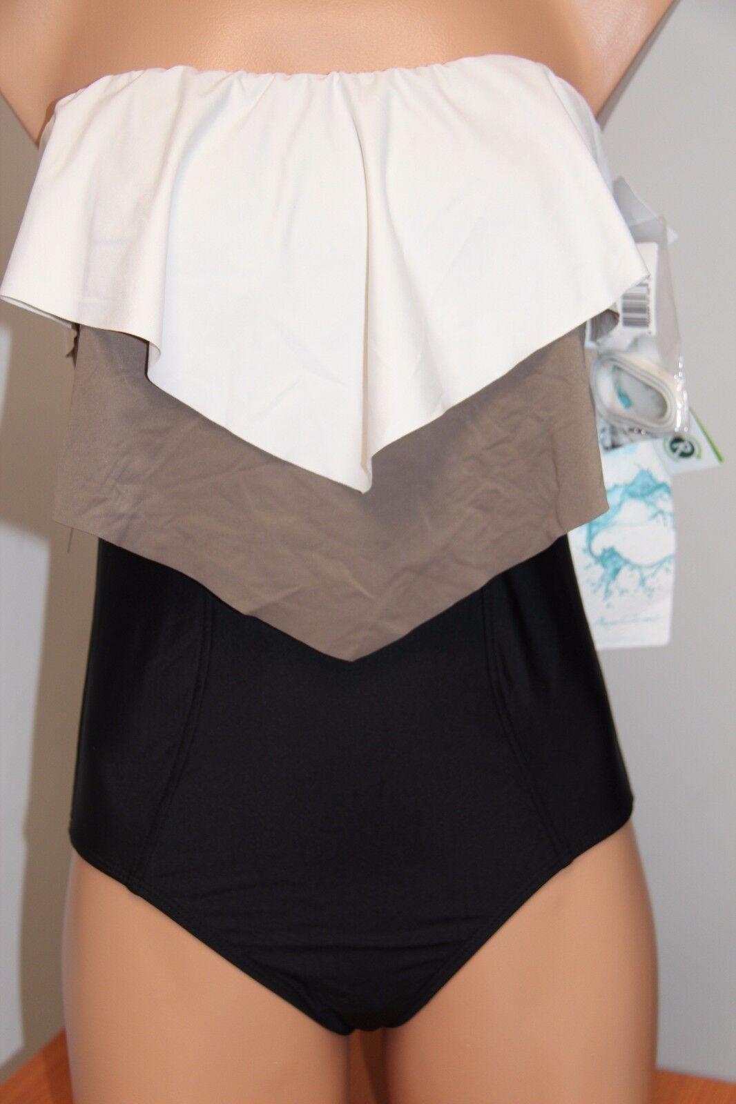 NWT ECO Swim Swimsuit One 1 piece size 10 Cream White