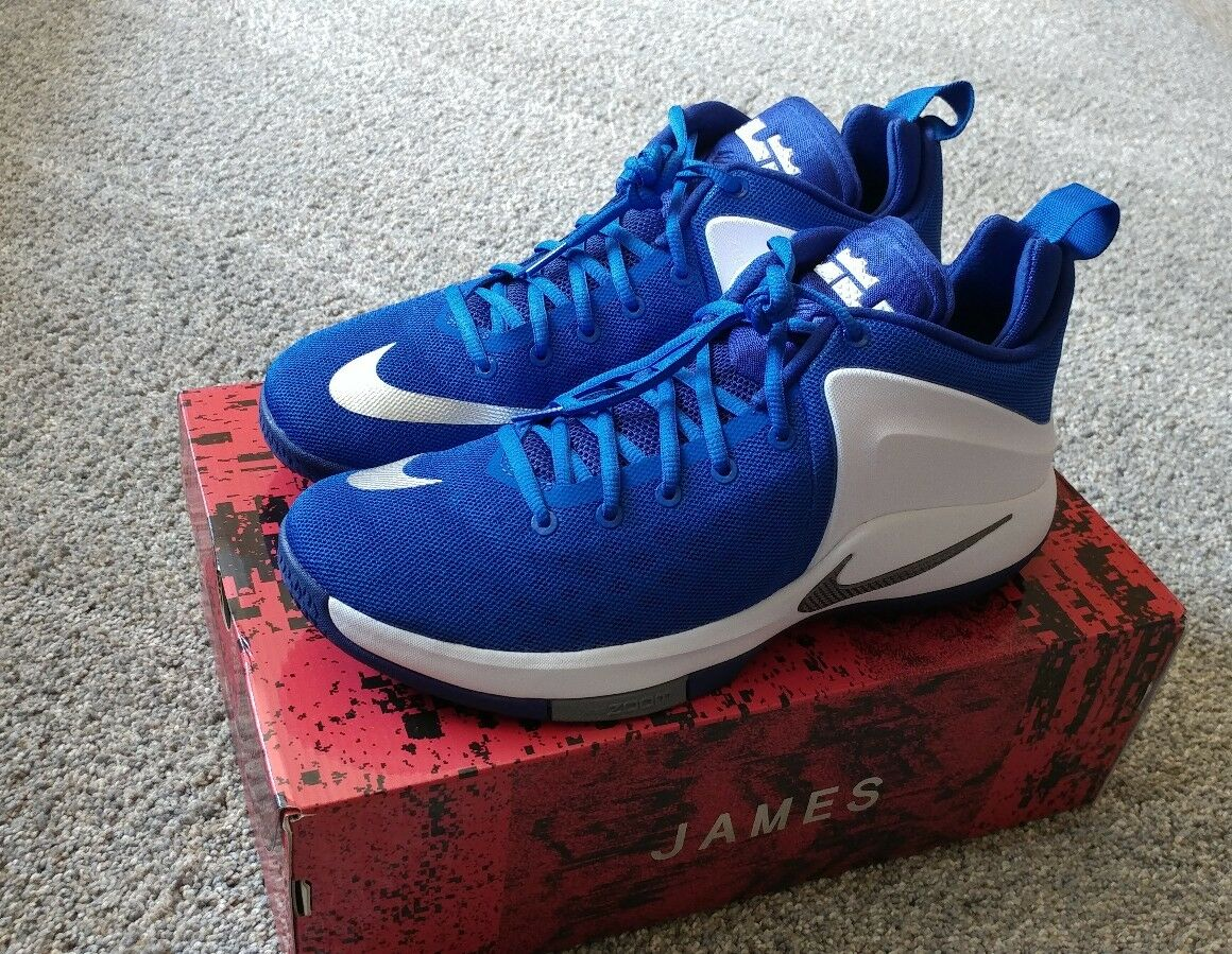 more photos a1184 5d3e1 NIKE Zoom Witness Basketball Shoes Mens Sz 10.5 10.5 10.5 Blue White Grey  852439
