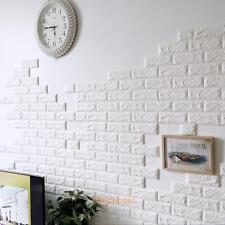 3D Vinyl Room Decor Art Brick Tile Embossed Wall Sticker Bedroom Removable Mural