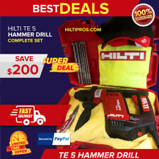 Hilti Te 5 Hammer Drill Free Sets Of Drill Bits Amp Extras Made In Germany