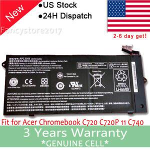 """AP13J4K Battery for Acer Chromebook 11.6"""" C720 C740 C720-2848 14 CB3-431 F"""