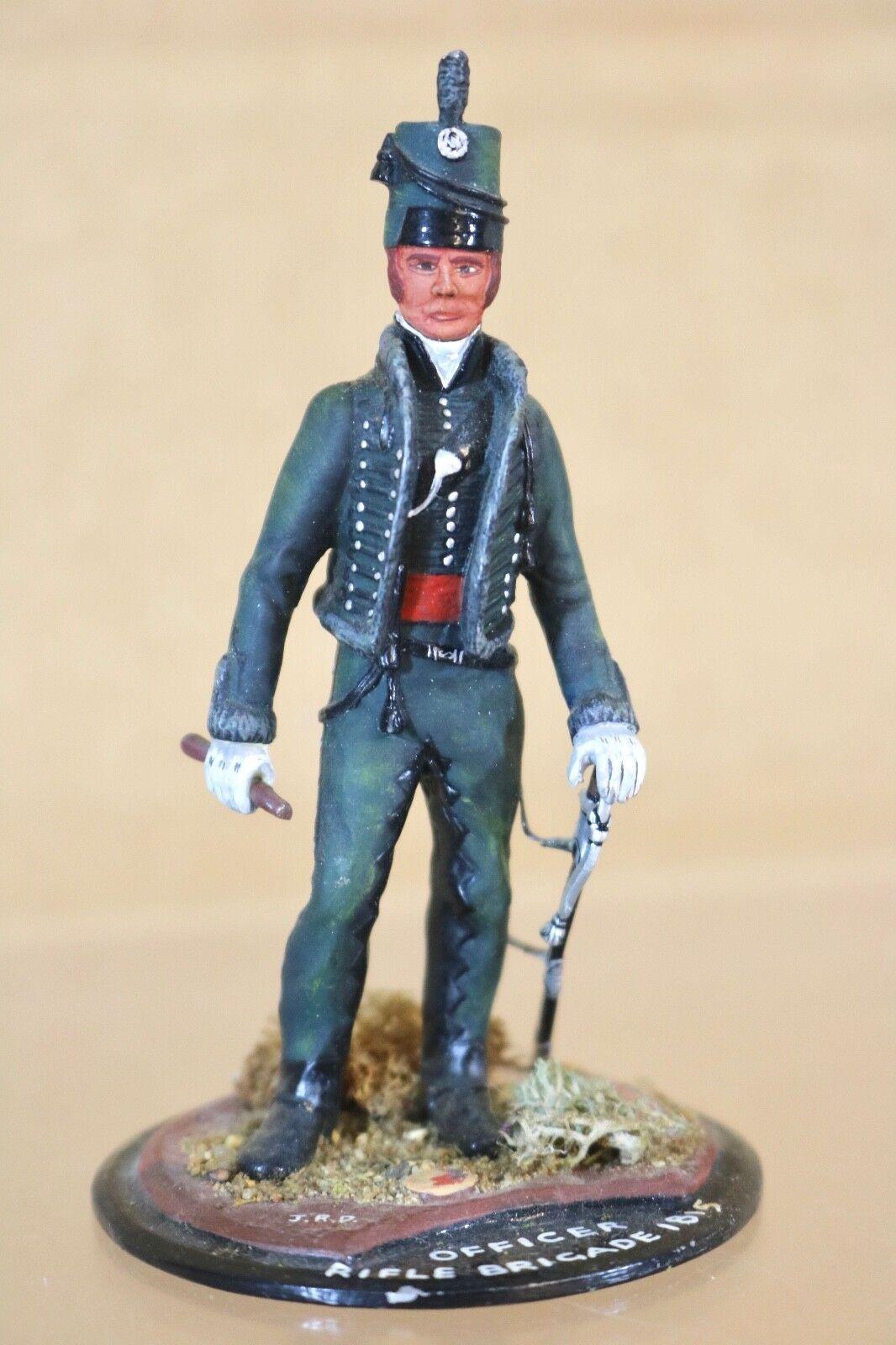 SERIES 77 90mm NAPOLEONIC BRITISH RIFLE BRIGADE OFFICER 1815 1815 1815 WATERLOO nn a5a