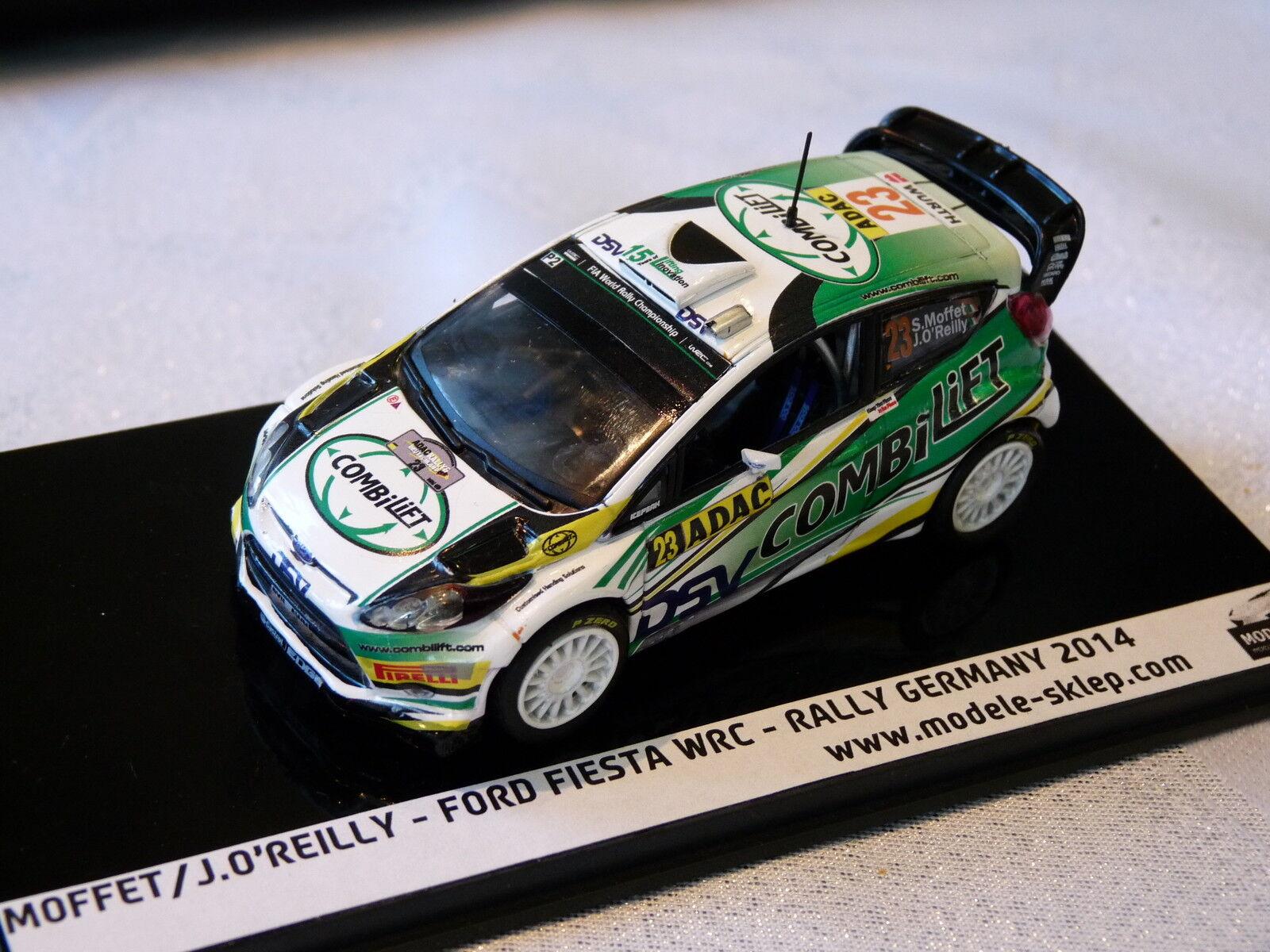 SAM MOFFETT  REILLY - FORD FIESTA WRC RALLY DEUTSCHLAND 2014  1 43 scale model