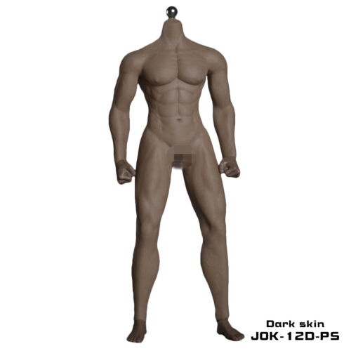 1//6 Scale Seamless Muscular Male Doll Body 12/'/' Action Figure Fit Hot Toys Head