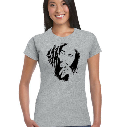 Bob Marley Womens T-Shirt Reggae Jamaica Wailers Jamaican Flag
