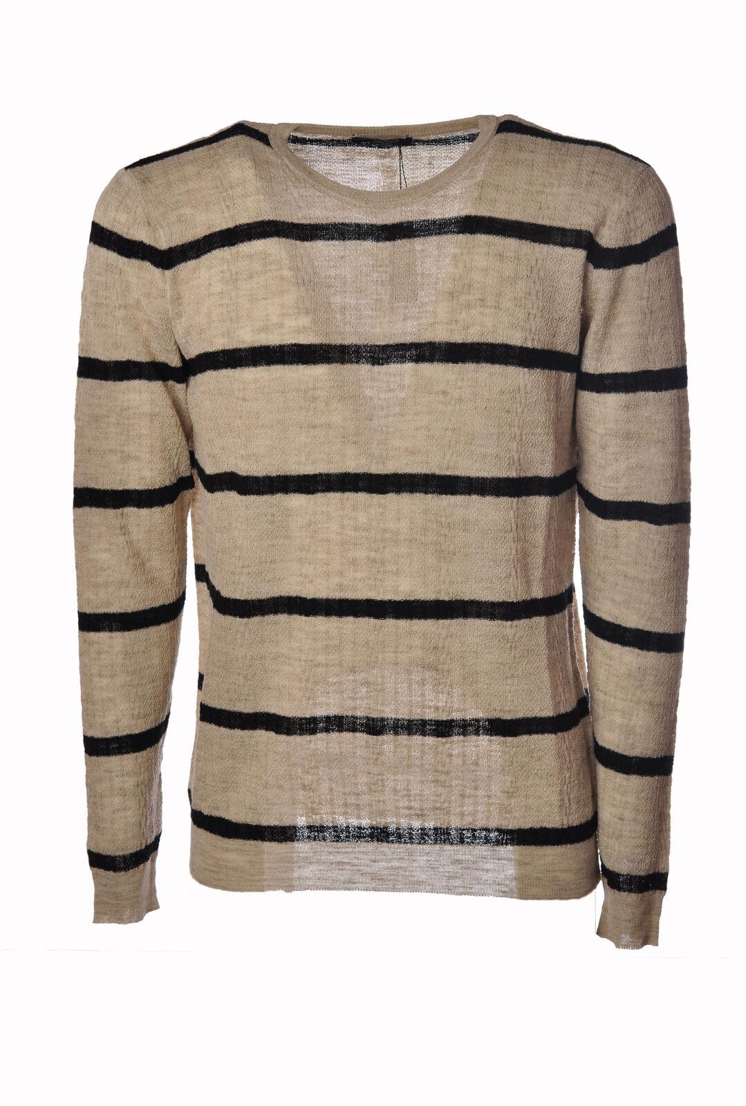 Roberto Collina  -  Sweaters - Male - Beige - 3214115A184025
