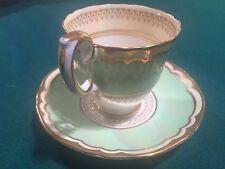 Crown Staffordshire Fine Bone China Demitasse Tea Cup and Saucer