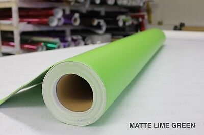 Gloss Lime Green 1FTx5FT Vinyl Wrap Roll Bubble Free Decal Car Bike Boat Trailer