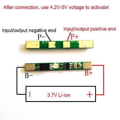 3.7V PCB Protection Board für 18650 Li Ion Lithium LiPo Batteriezelle 1S