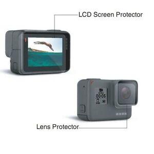 per-GoPro-Hero-5-Schermo-LCD-e-Obiettivo-PROTEZIONE-Film-folil