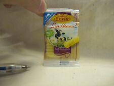 D003 Dollhouse Miniature kraft american cheese slices frico kitchen 1:3