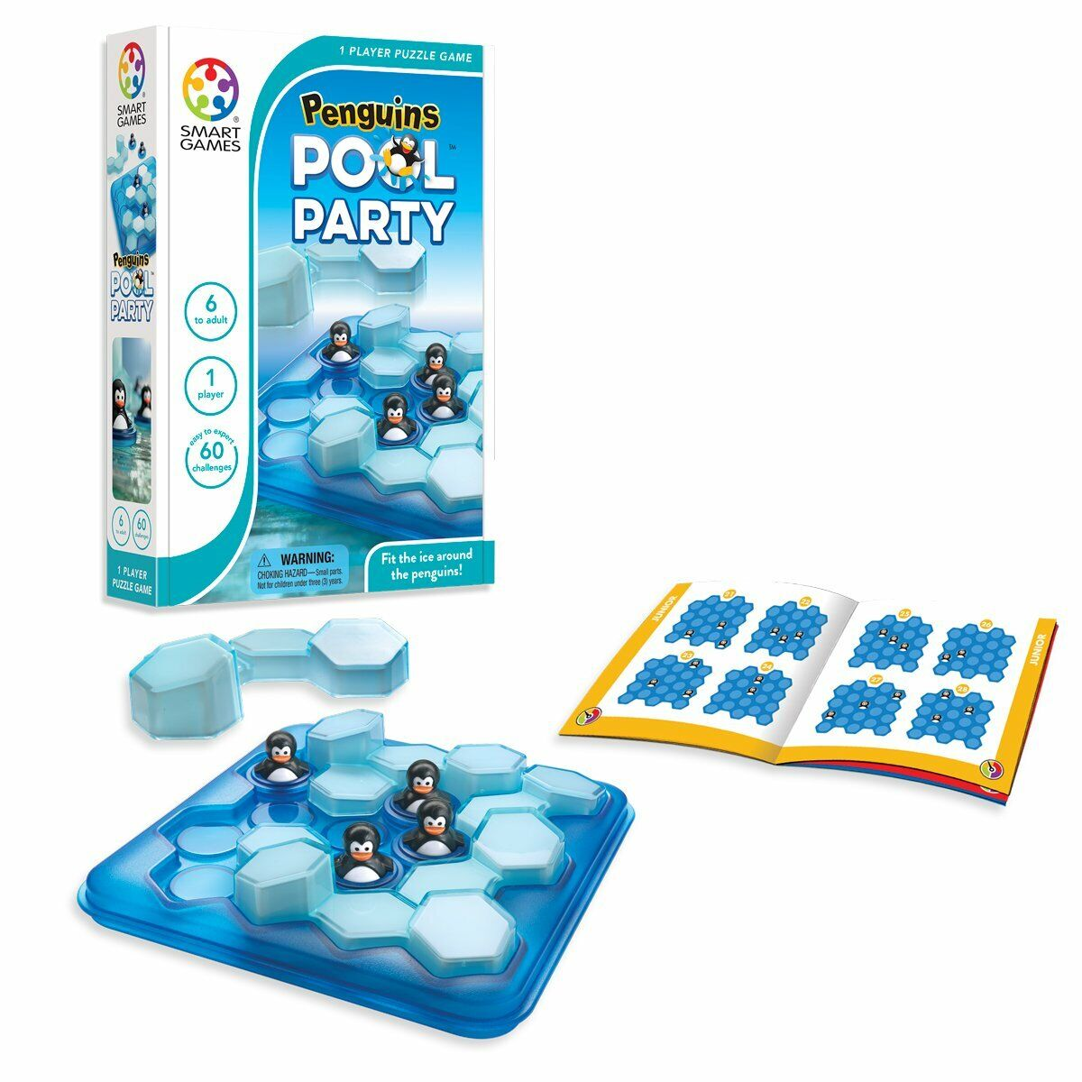 SmartGames Penguins Pool Party 3D Logic Educational Travel Game Toy Kids Adults 2