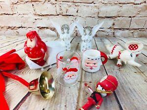 Vtg-lot-of-Christmas-Decorations-ornaments-santa-cup-Japan-treat-retro-50-039-s-60-039-s