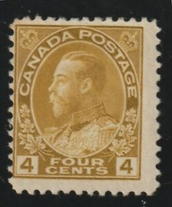 """Canada 1922 #110 King George V """"Admiral"""" Issue - F MH (01)"""