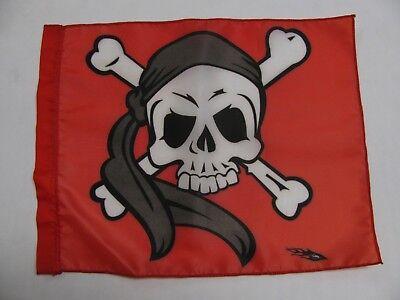 DuneRats Custom ATV UTV Motorcycle Safety Whip Flag Red Skull /& Crossbones