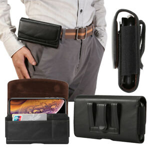 PU-Leather-Horizontal-Sleeve-Belt-Clip-Pouch-Holster-Case-Cover-For-Mobile-Phone