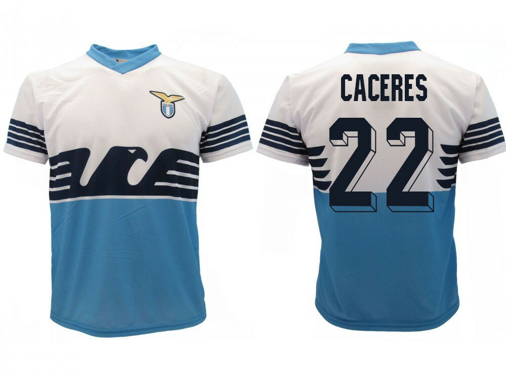 Trikot Lazio Lazio Lazio Rom Caceres 2019 Offizielles Produkt SS Home Adler Martin 22 ca53ca