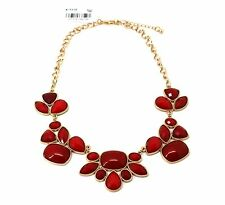 Style&co. Women's Jewelry Gold-Tone Red Bold Stone Frontal Necklace