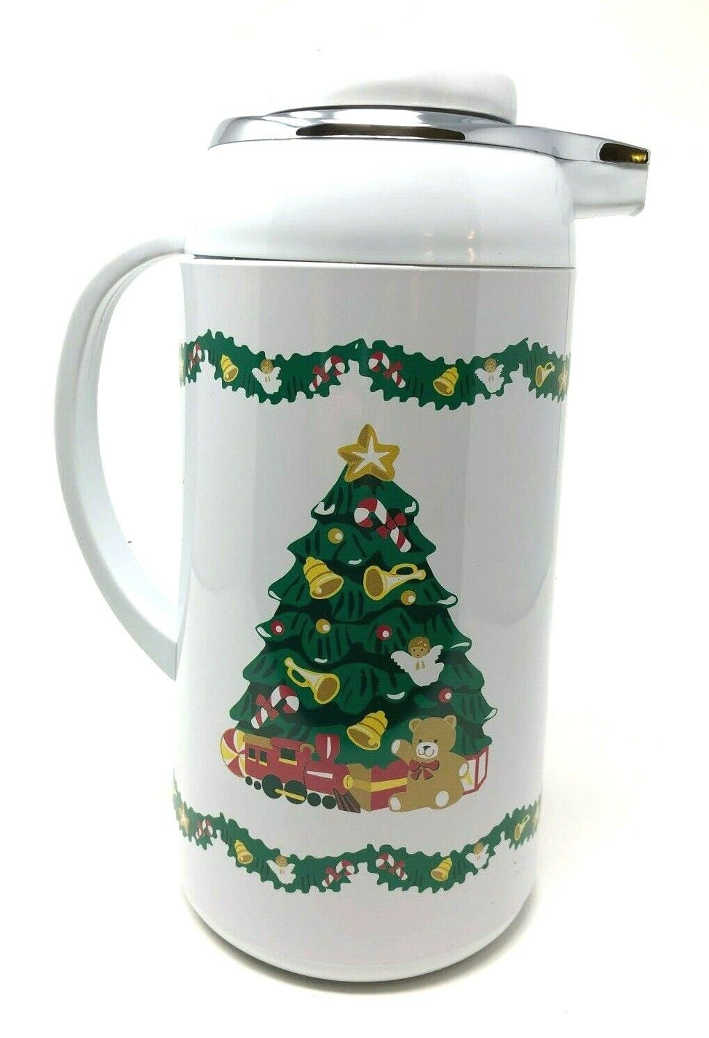 Plastic Christmas Tree.Hometrends Christmas Tree Holiday Coffee Plastic Hot Cold Thermal Carafe Pot