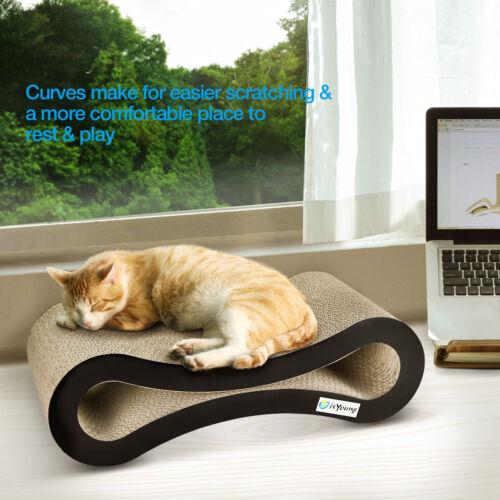 Cat Scratching Board Lounge Play Rest Sleep Cardboard Bed Mat Pet Scratcher Toys