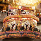 3D Fit Duvet Cover Pillowcase Stylish Quilt Cover Bed Set Queen King Leopard