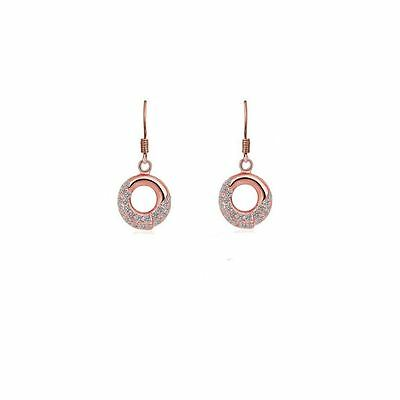 Women S Rose Gold Earrings Dangle Mix Match Jewellery With Crystal Stones Uk 5056013609162 Ebay