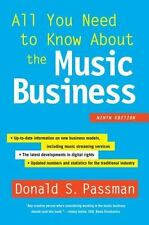 All You Need to Know about the Music Business : Ninth Edition by Donald S. Passman (2015, Hardcover)