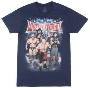 WRESTLEMANIA-WRESTING-T-SHIRT-WWE-NAVY-TEE-MENS-JOHN-CENA-UNDERTAKER