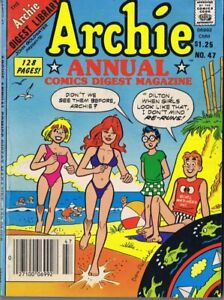 ORIGINAL-Vintage-1985-Archie-Annual-Digest-47-GGA-Double-Swimsuit-Cover