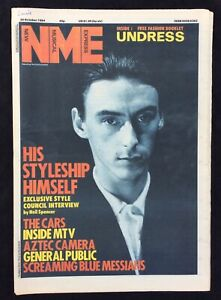 NME-New-Musical-Express-20-October-1984-Paul-Weller-Cover-Cars-MTV-Aztec-Camera