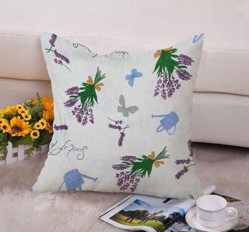 New Lavender Printed Cushion Cotton Covers Inch Pillowcases Linen Print