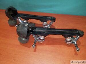 Luigino-Pilot-Falcon-Quad-Roller-Derby-Skates-Plates-6-50-with-Toe-Guards
