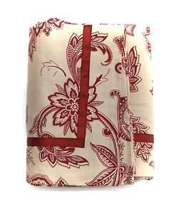 NEW-CHARTER-CLUB-RED-MAROON-TAUPE-FLORAL-PAISLEY-EURO-SHAM