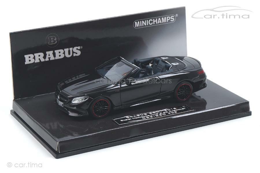 BRABUS 850 S-Class Cabriolet 2016-noir-MINICHAMPS - 1 43 - 437034230