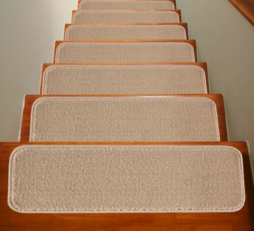 M Mod-ArteSolo Collection Stair Treads Rubber Backing Non slip Solid Color