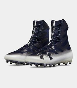UA Highlight MC Football Cleats Navy Blue White 3000177-402 Multiple Sizes NEW