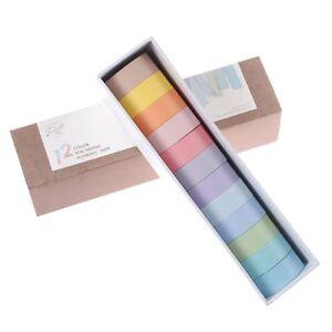 12-Colors-Washi-Tape-Set-Adhesive-Decoration-Masking-Stickers-Diary-Album-School