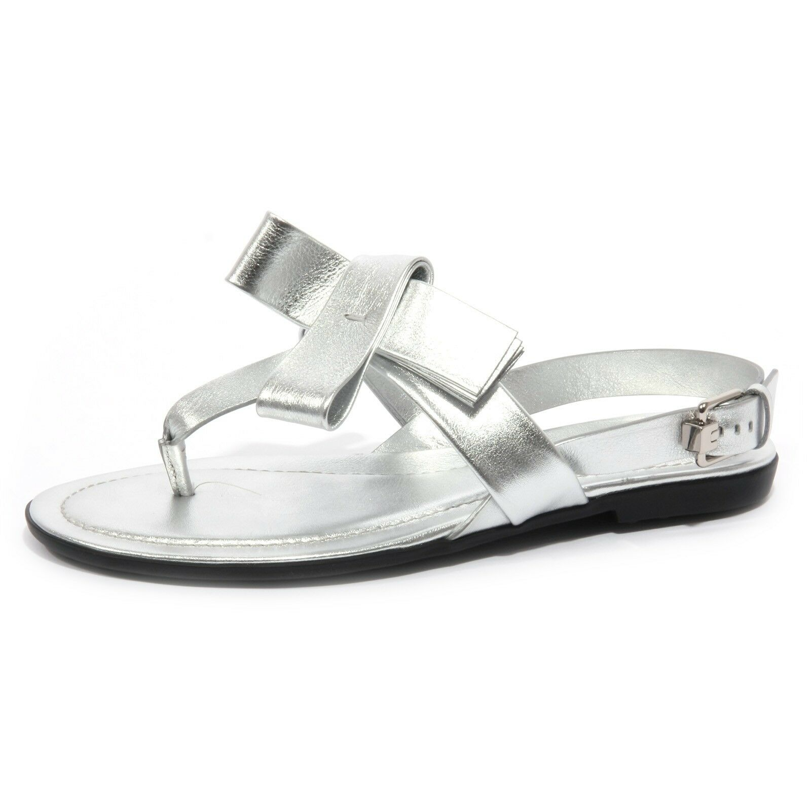 B1563 infradito mujer Tod's sandalo Fiocco plata flip flops zapatos Woman