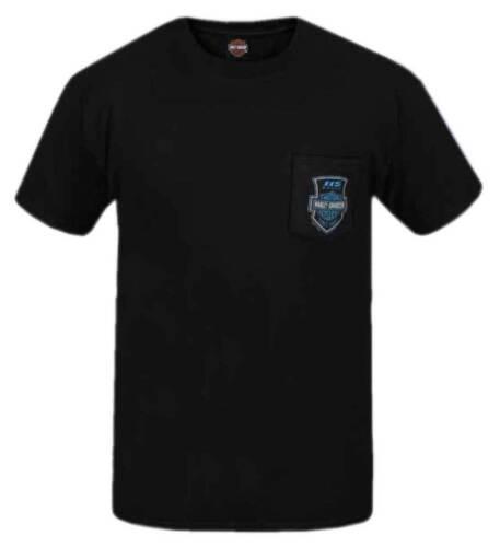 Harley-Davidson Men/'s 115th Anniversary Shield Chest Pocket Short Sleeve T-Shirt