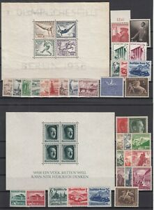 G3311-GERMANY-REICH-1936-1939-MINT-SEMI-MODERN-LOT-CV-470