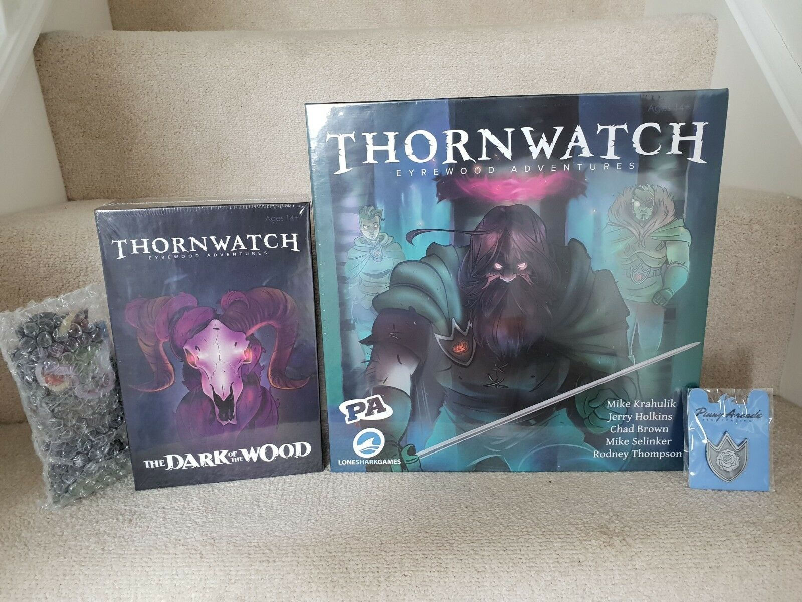 Thornwatch Game + Dark of the Wood + Pinny Arcade Collectible Pin + Upgrades NEW
