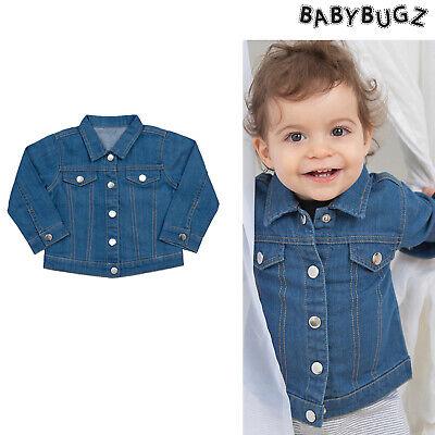 Babybugz Baby Rocce Giacca Di Jeans (bz53) - Cotone Giacca Di Jeans Ragazzi-mostra Il Titolo Originale