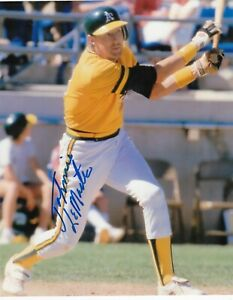 JOHNNIE LEMASTER  OAKLAND A'S   ACTION SIGNED 8x10