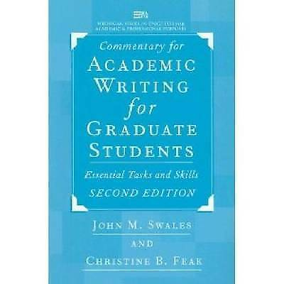 Commentary for Academic Writing for Graduate Students: Essential Tasks and Skill
