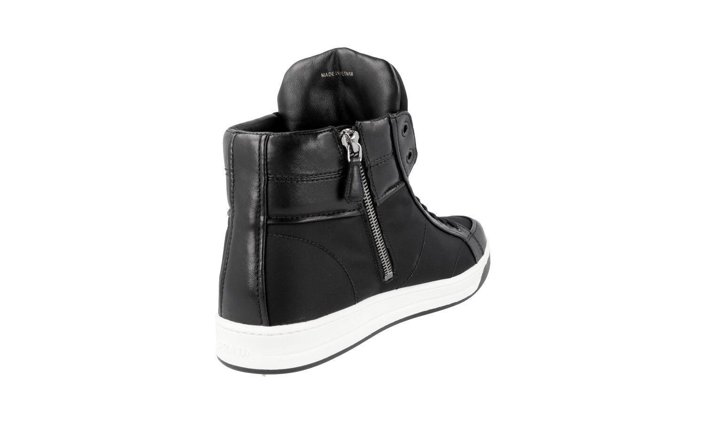 shoes PRADA LUXUEUX 3T5770 black black black NOUVEAUX 40 40,5 UK 7 1d4ba9