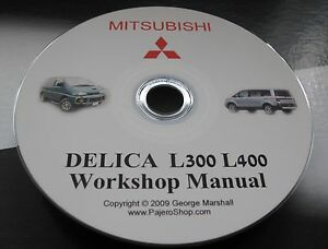 MITSUBISHI DELICA L400 WORKSHOP MANUAL 28 TD 4M40 ENGINE MANUAL