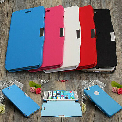 Slim Magnetic Flip PU Leather + PC Hard Case Cover For Apple iPhone SE 5S 5th