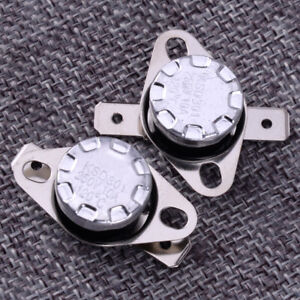 2pcs 120°C Thermostat Temperature Thermal Switch Normally Closed NC KSD301
