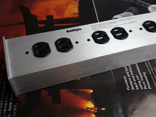 it023 US AC Power Strip Bar Distributor 6 Outlet Purifiying Reduce noise